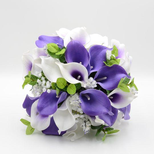 Purple & White Calla Lily Posy
