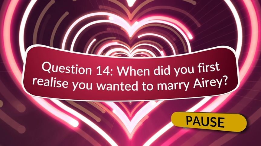 Newlywed game show questions