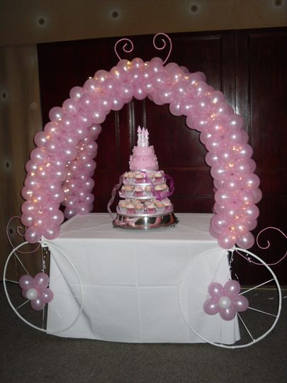 Cinderella cake arch