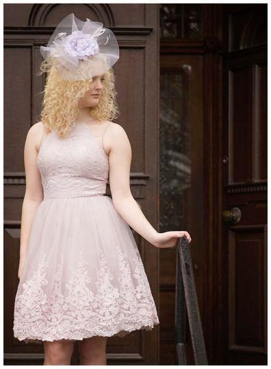A wedding guest fascinator.