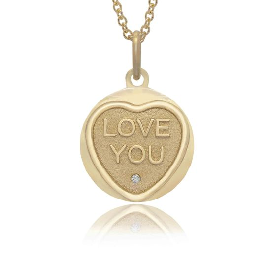 Love you love hearts necklace