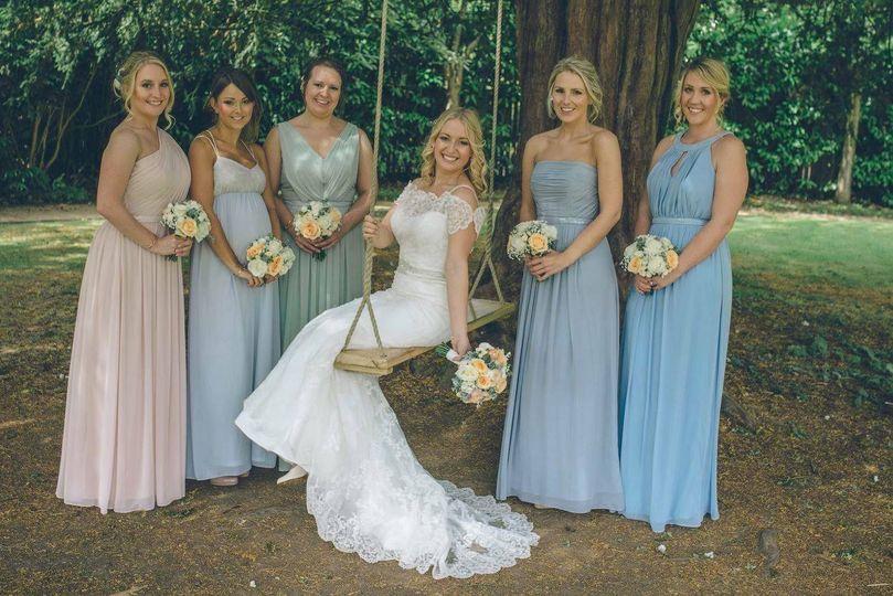 Bridal party makeup & hair