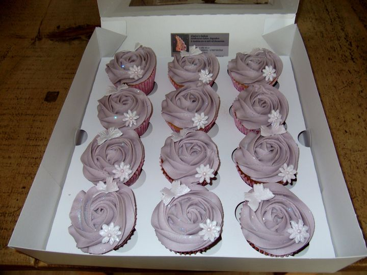Rose style cupcakes