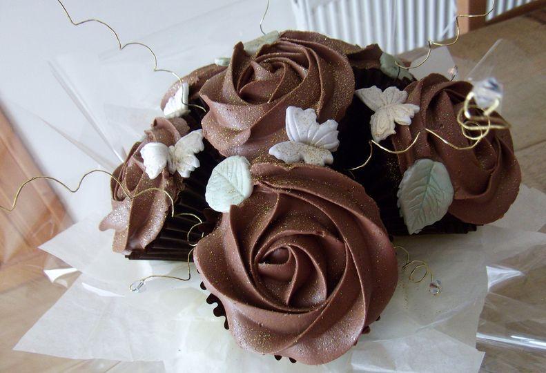 Chocolate Cupcake Bouquet