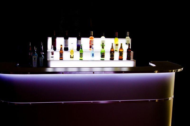Mobile bar lit up