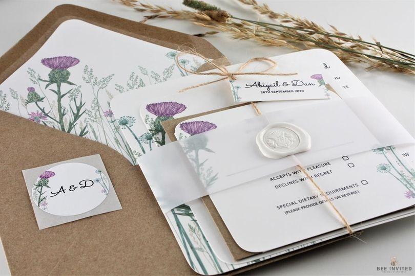 Stationery Bee Invited Wedding Stationery 8