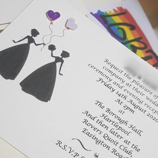 LGBT gay wedding Invitations