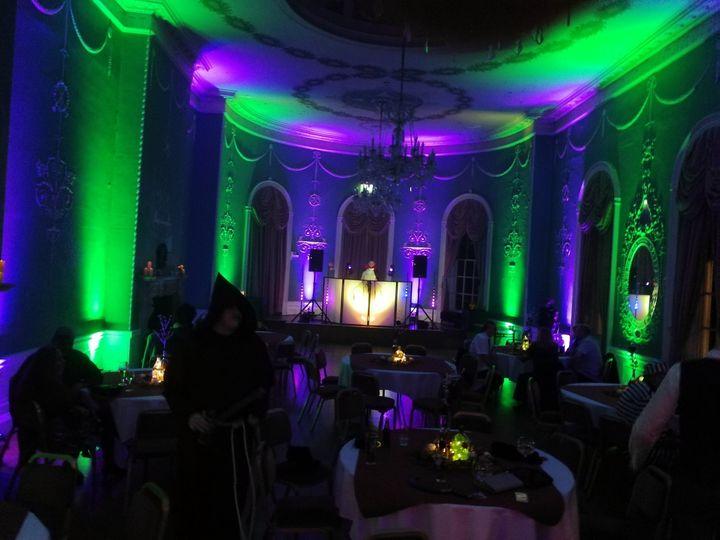 Green and purple lights