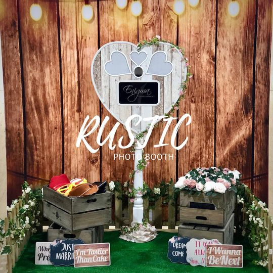 Our unique 'Rustic' PhotoBooth