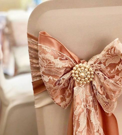 Beautiful rose gold and Lace