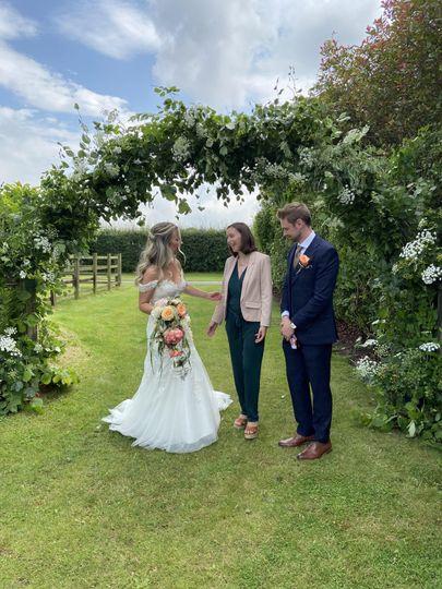 Outdoor weddings specialist.