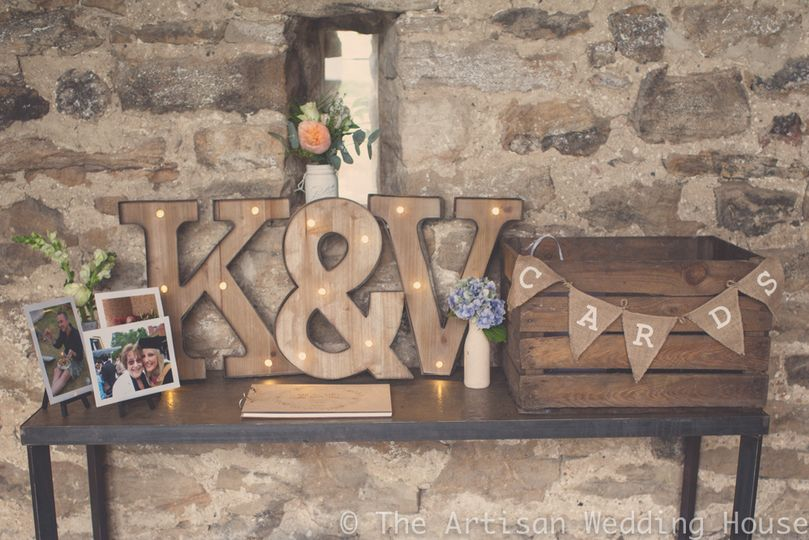LED letters & wooden cards box