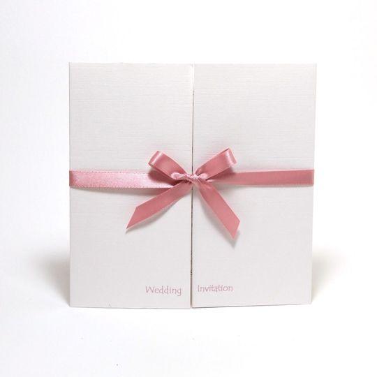 Gatefold ribbon invitation