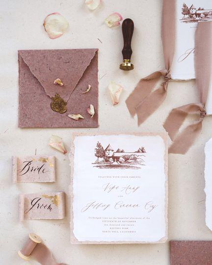 Romantic wedding suite