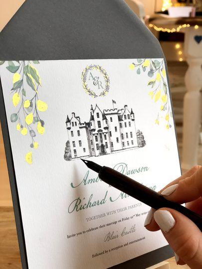 Blair Castle Wedding Invites