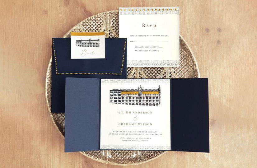 Illustrated Venue Invitations