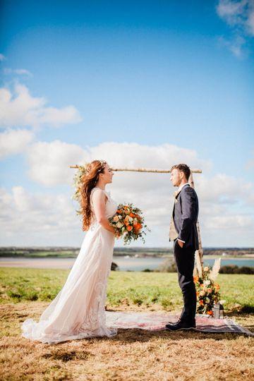 Bride amd groom
