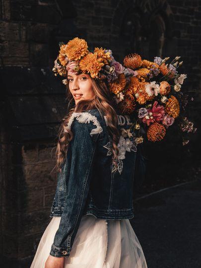 Boho bridal florals