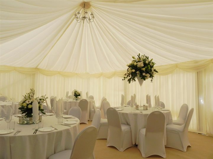 Ivory ceiling lining