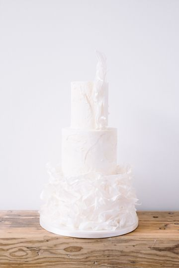Bustle Wedding Cake