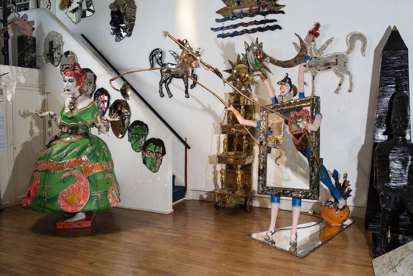 Gallery 2 with Zandra Rhodes sculpture