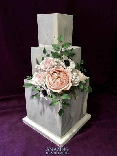 Stone and Marble Effect with Sugar Flowers