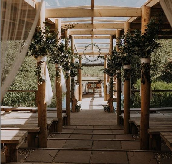 Our outdoor ceremony area