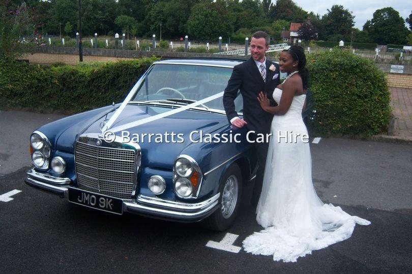 Classic London wedding car