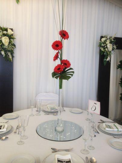 Gerbera lily vase