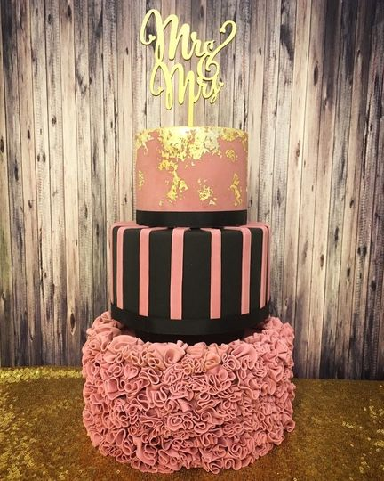 Pink and black mr & mrs