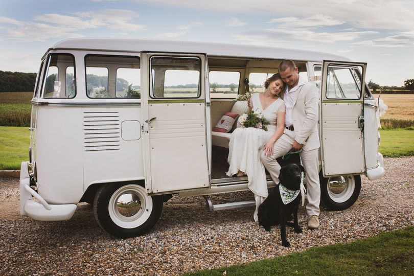 Vintage wedding van