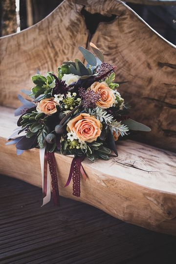 Unstructured hand tied bouquet