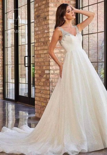 Full A-line wedding gown