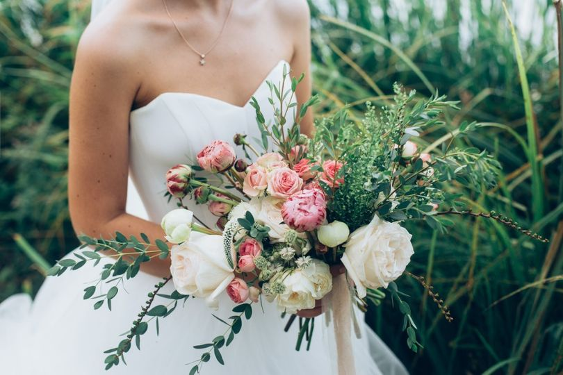 'Just picked' bridal bouquet