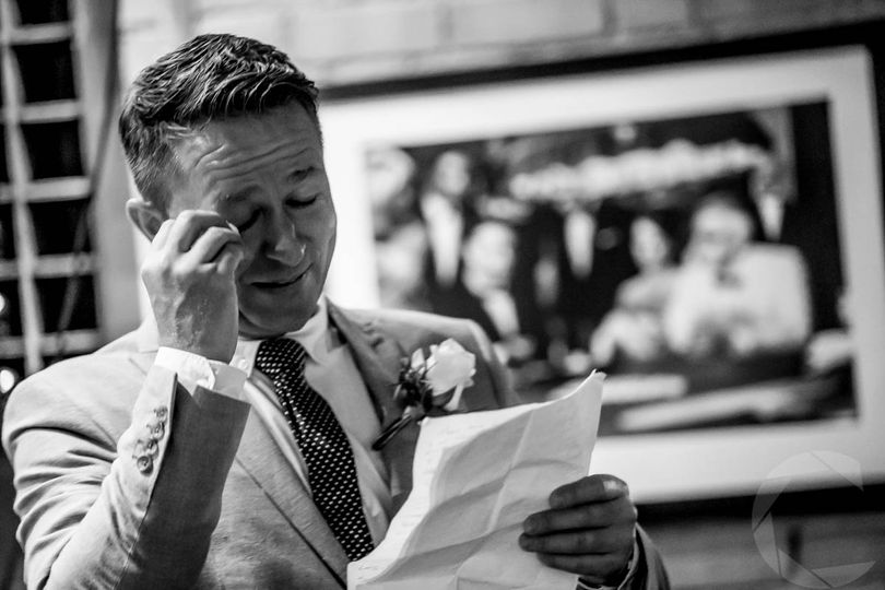 Best man crying