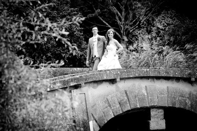 Couple crossing the bridge