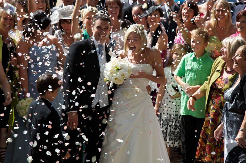 Joy for the happy couple