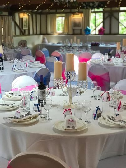 Pink and blue decor