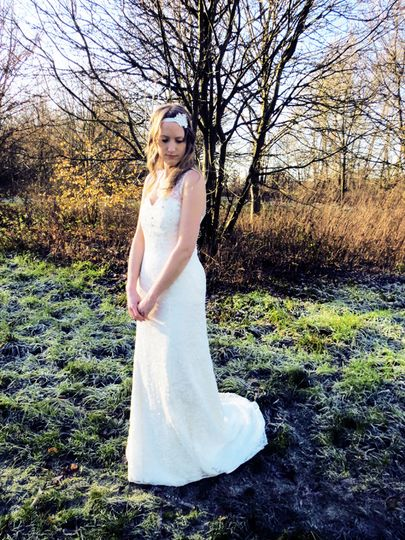 Lace floor length dress