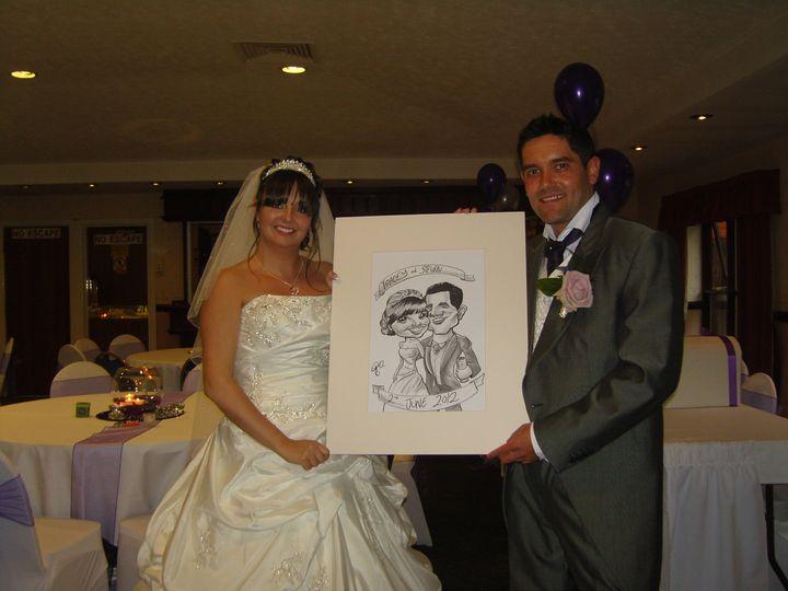 A happy bride & groom