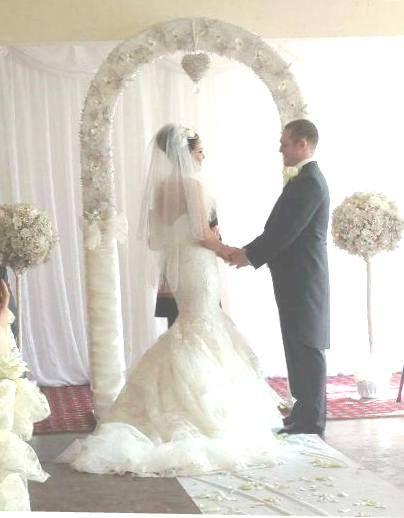 Crystal wedding arch -ceremony