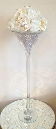 Martini vase table decoration