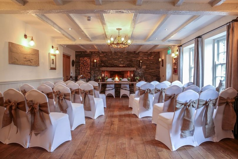 The Undermillbeck set up for a wedding ceremony
