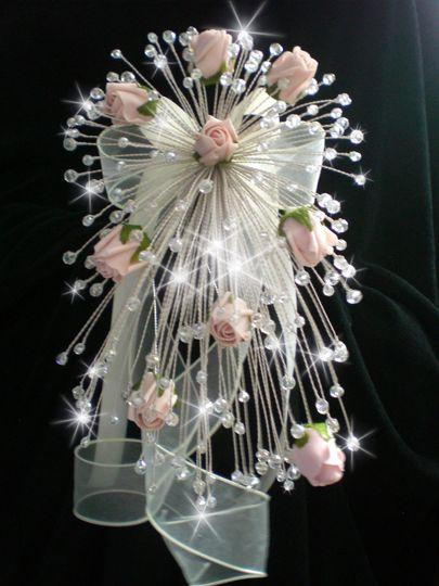 Swarovski Crystal Rose Fall Bouquet