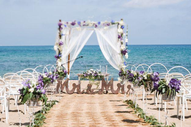 Elegant ceremony decor