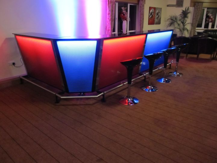 3 section LED bar with corner