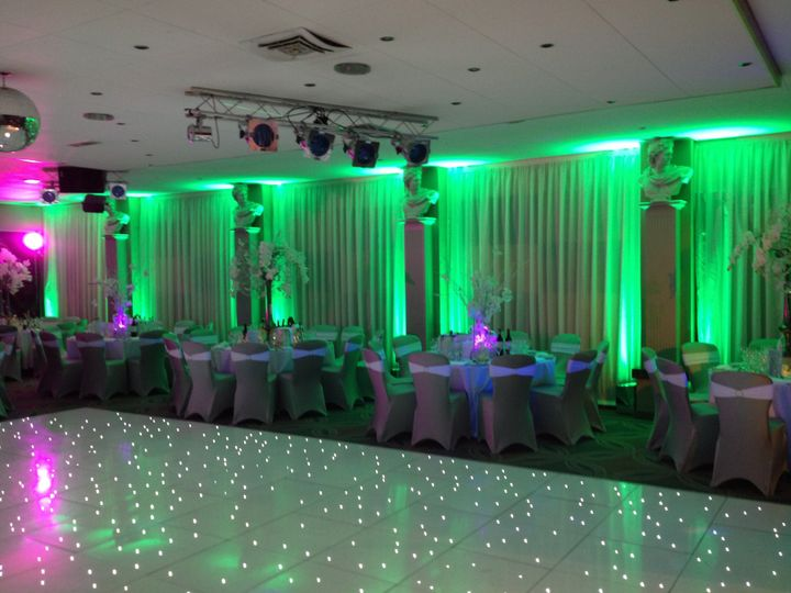 LED dance floor & uplighting