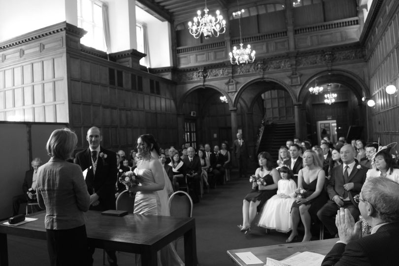 Ceremony in an old school