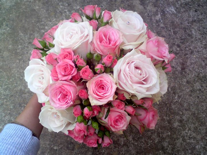 Soft pinks bridal bouquet