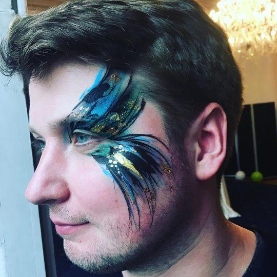 Beauty, Hair & Make Up Tropical Bird Face & Body Art + Henna 2